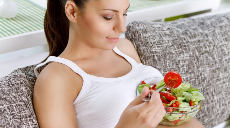 Vegetarian diet for first trimester.