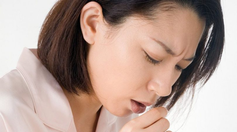Having cough with productive sputum.
