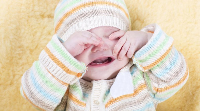 Baby having fever and vomiting