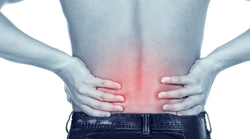 Lower back pain and muscle cramping.