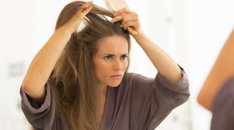 Premature graying of hairs and hair fall.