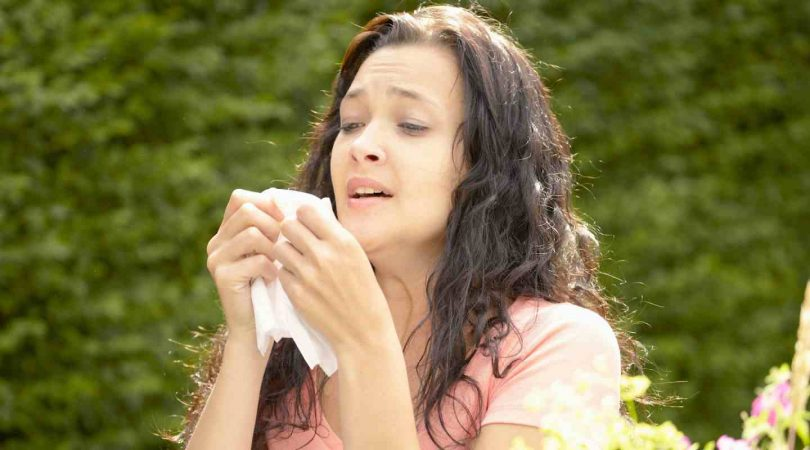 Mucus with sneezing