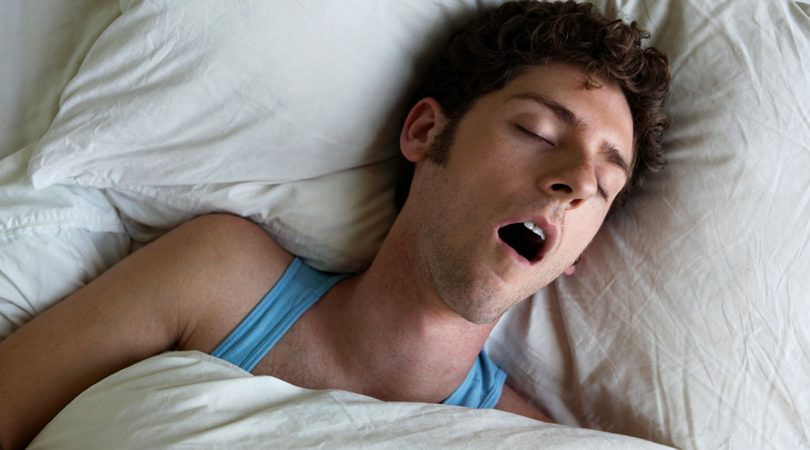 Open mouth during sleep and drooling saliva.
