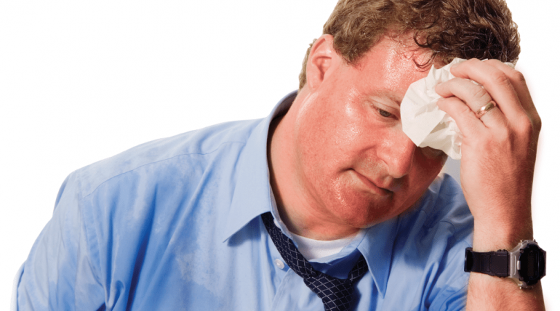 Having excessive sweating on body