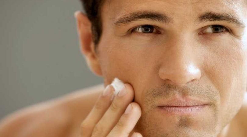 Blackheads and pimples on face