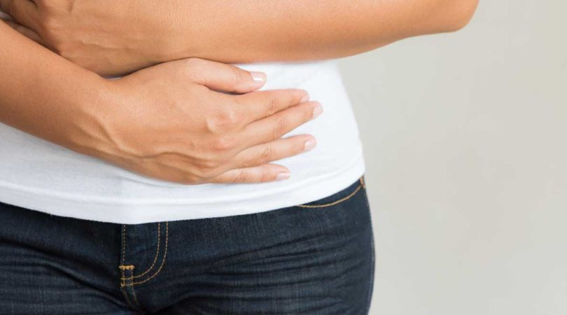 Stomach bloating and burping